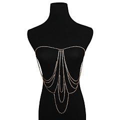 baratos Bijoux de Corps-Franjas Cadeia corpo / Cadeia de barriga Europeu, Bikini Mulheres Dourado / Prata Bijuteria de Corpo Para Bikini / Bagels