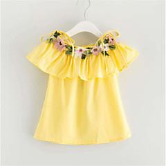 billige Babytøj-Baby Pige Basale Trykt mønster Uden ærmer Bomuld Bluse