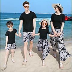 billige Sett med familieklær-Voksen Familie Look Blomstret Kortermet T-skjorte