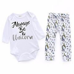 billige Babytøj-Baby Unisex Basale Trykt mønster 3/4-ærmer Tøjsæt