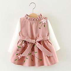 رخيصةأون ملابس الرضع-للفتيات رياضي Active قطن بنطلون - هندسي بني / طفل صغير