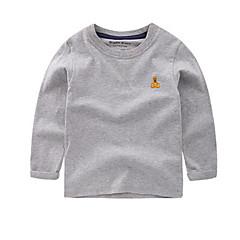 tanie Odzież dla chłopców-Dzieci Dla chłopców Podstawowy Nadruk Długi rękaw Bawełna T-shirt