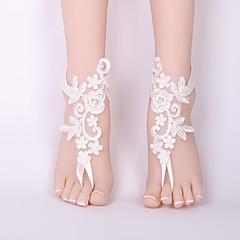 tanie Piercing-Sandały Barefoot - Koronka Kwiat Klasyczny, Modny Biały Na Ślub / Bikini / Damskie