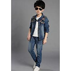 billige Tøjsæt til drenge-Børn Drenge Basale Trykt mønster Trykt mønster Langærmet Bomuld Tøjsæt