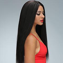 billiga Peruker och hårförlängning-Remy-hår Spetsfront Peruk Brasilianskt hår Rak 130% Densitet Med Babyhår / Naturlig hårlinje / Afro-amerikansk peruk Korta / Lång / Mellanlängd Dam Äkta peruker med hätta