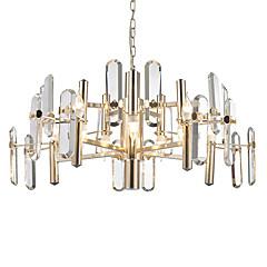 billiga Dekorativ belysning-LWD 8-Light Candle-stil Ljuskronor Glödande Elektropläterad Metall Glas Kristall, Kreativ 110-120V / 220-240V Glödlampa inte inkluderad