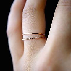 billige Motering-Dame Tau / Double Twine Ring / Ring Set / Tail Ring - Måne fase Enkel, Romantikk, Avslappet / Sportslig 6 / 7 / 8 Gull Til Daglig / Aftenselskap / Maskerade
