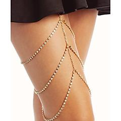 baratos Bijoux de Corps-Camadas Corrente para Perna Estiloso Mulheres Dourado / Prata Bijuteria de Corpo Para Bandagem / Bikini