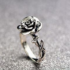 billige Motering-Dame Skulptur Ring - Blomst Vintage, Romantikk, Avslappet / Sportslig 6 / 7 / 8 Sølv Til Daglig / Bar