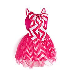 tanie Odzież dla dziewczynek-Brzdąc Dla dziewczynek Aktywny / Moda miejska Wyjściowe Jendolity kolor / Nadruk Siateczka Bez rękawów Bawełna Komplet odzieży