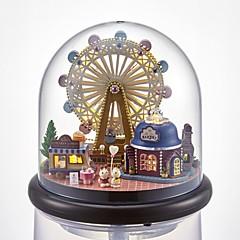 Χαμηλού Κόστους Κουκλόσπιτα-Κουκλόσπιτο Δημιουργικό / με φωτισμό LED Ρομάντζο / ΡΟΔΑ του λουνα παρκ 1 pcs Κομμάτια Παιδικά Δώρο