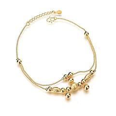 baratos Bijoux de Corps-Fio Único tornozeleira - Bola Estiloso, Simples, Clássico Dourado Para Diário / Mulheres