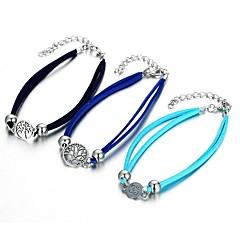 baratos Bijoux de Corps-Fashion tornozeleira - Árvore da Vida Importante Preto / Azul / Azul Claro Para Para Noite Bikini Mulheres