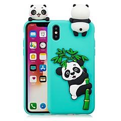 billige Telefoner og nettbrett-Etui Til Apple iPhone X / iPhone 8 Plus GDS Bakdeksel Panda Myk TPU til iPhone X / iPhone 8 Plus / iPhone 8