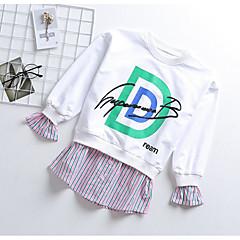 tanie Odzież dla dziewczynek-Dzieci Dla dziewczynek Moda miejska / Punk & Gotyckie Sport Nadruk / Patchwork Niejednolita całość / Nadruk Długi rękaw Bawełna T-shirt