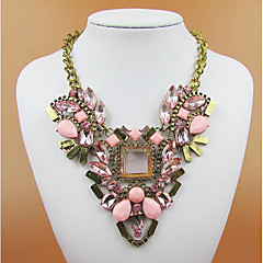 cheap Necklaces-Women's Crystal Pendant Necklace / Statement Necklace - Gold Plated Ladies Black, Purple, Pink Necklace Jewelry For Party