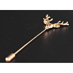 Men's Long Brooches - Deer Fashion, British Brooch Gold / Silver For Formal / Date