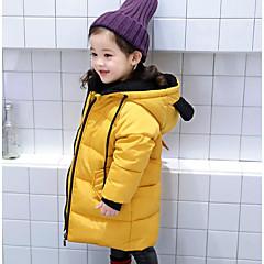 tanie Odzież dla dziewczynek-Brzdąc Dla dziewczynek Aktywny / Podstawowy Codzienny / Sport Solidne kolory Nadruk Długi rękaw Długie Bawełna / Poliester Odzież puchowa / pikowana Czarny