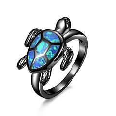 billige Motering-Dame Syntetisk Opal Lasso Statement Ring - Kobber, Gullbelagt Unikt design, Tegneserie, Mote 6 / 7 / 8 / 9 Svart Til Engasjement Arbeid