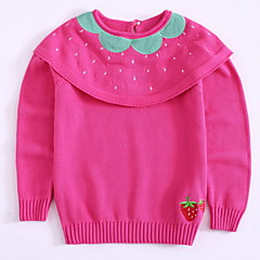 お買い得  女児 セーター&カーディガン-幼児 女の子 果物 長袖 セーター&カーデガン