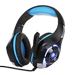 billiga Headsets och hörlurar-KOTION EACH GM-1 Headband Kabel Hörlurar Hörlurar ABS + PC Spel Hörlur mikrofon / Med volymkontroll headset