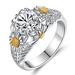 billige Motering-Dame Rubin / Kubisk Zirkonium Vintage Stil Band Ring / Forlovelsesring - Sølv Vintage, Elegant 6 / 7 / 8 Sølv Til Bryllup / Engasjement / Seremoni