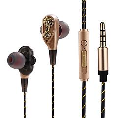 billiga Headsets och hörlurar-JTX I öra Kabel Hörlurar Hörlurar Aluminum Alloy Sport & Fitness Hörlur mikrofon / Bekväm headset