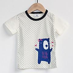 billige Overdele til drenge-Baby Drenge Ensfarvet / Prikker Kortærmet T-shirt