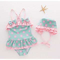 billige Badetøj til piger-Børn Pige Prikker Uden ærmer Badetøj