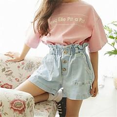 baratos Roupas de Meninas-Infantil Para Meninas Sólido Shorts