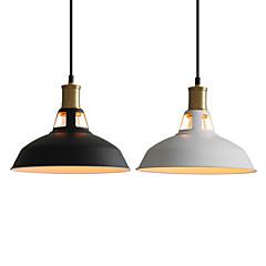 billiga Dekorativ belysning-diameter 27cm vintage hänge ljus 1-ljus metall skugga vardagsrum matsal hall belysning