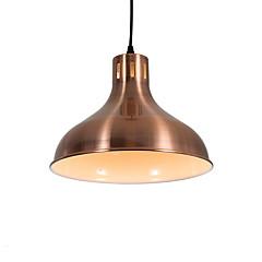 billiga Dekorativ belysning-moderna elektropläterade röda bronzer hänge ljus 1 ljus metall skugga vardagsrum matsal använder 1 e26 / e27 lampor