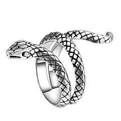 billige Motering-Herre Skulptur Statement Ring Ring - Slange, Dyr Vintage, Punk, trendy 7 / 8 / 9 / 10 Sølv Til Karneval Klubb