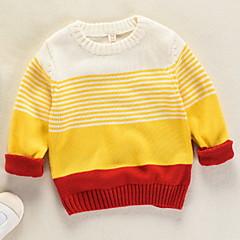billige Sweaters og cardigans til drenge-Børn Drenge Stribet / Farveblok Langærmet Trøje og cardigan