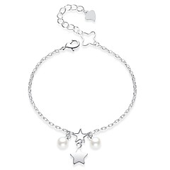 baratos Bijoux de Corps-Fashion Tornezeleira - Coração Estilo bonito Branco / Vermelho Para Presente / Diário / Mulheres