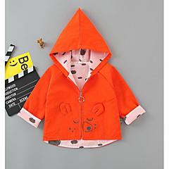billige Jakker og frakker til piger-Baby Pige Basale Trykt mønster Langærmet Normal Polyester Jakke og frakke Orange