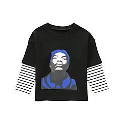 billige Hættetrøjer og sweatshirts til drenge-Børn / Baby Drenge Aktiv Daglig Stribet / Trykt mønster Trykt mønster Langærmet Normal Bomuld Hættetrøje og sweatshirt Hvid
