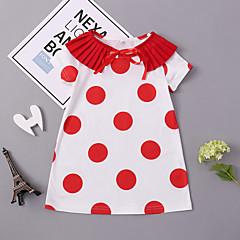 billige Pigekjoler-Børn / Baby Pige Geometrisk Kortærmet Kjole