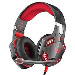 billiga Headsets och hörlurar-KOTION EACH G2000 Headband Kabel Hörlurar Hörlurar ABS + PC Spel Hörlur mikrofon / Med volymkontroll headset