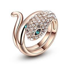 billige Motering-Dame Kubisk Zirkonium 3D Slange Ring - Gullplatert rose, Legering Slange 6 / 7 / 8 Rose Gull Til Gate Klubb