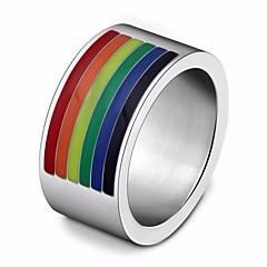 billige Motering-Par Elegant Band Ring - Titanium Stål, rustfritt Kreativ Enkel, Unikt design, Tegneserie 6 / 7 / 8 Sølv Til Gate / Ferie