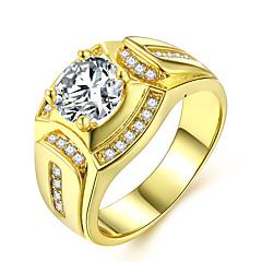 billige Motering-Par Lag-på-lag Elegant Ring - Fuskediamant Dyrebar Luksus, Klassisk, Mote 7 / 8 / 9 / 10 / 11 Gull Til Daglig Stevnemøte