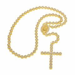 Χαμηλού Κόστους Κολιέ Statement-Ανδρικά Cubic Zirconia Πεπαλαιωμένο Στυλ / Γλυπτό Κρεμαστά Κολιέ / Κολιέ Δήλωση - Cruce Καλλιτεχνικό, Βίντατζ, Ευρωπαϊκό Χρυσό, Ασημί 70 cm Κολιέ 1pc Για Απόκριες, Μασκάρεμα