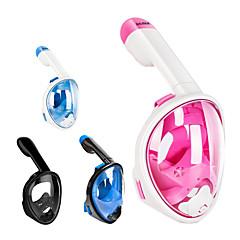 billiga Dykmasker, snorklar och simfötter-Dykmasker Anti-Dimma, Heltäckande ansiktsmasker, 180° enda fönster - Simmning, Dykning, Snorkelfenor Kiselgel, ABS + PC - för Barn Rosa / Blå / Vit / Blå / Svart
