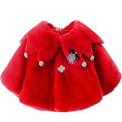 billige Overtøj til babyer-Baby Pige Aktiv Ensfarvet Patchwork Langærmet Bomuld dun- og bomuldsforet