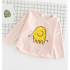 billige Pigetoppe-Baby Pige Trykt mønster Langærmet T-shirt
