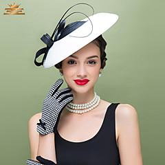 Χαμηλού Κόστους Καπέλο για πάρτι-Φτερό / Πολυεστέρας Γοητευτικά / Καλύμματα Κεφαλής με Φλοράλ 1pc Γάμου / Ειδική Περίσταση / Causal Headpiece
