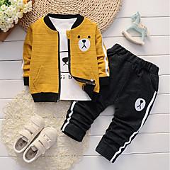 ieftine Haine Bebeluși Băieți-Bebelus Băieți Casual / De Bază Zilnic / Sport Panda Jacquard Brodat Manșon Lung Regular Regular Bumbac / In Set Îmbrăcăminte Trifoi / Copil