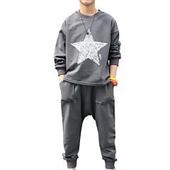 tanie Odzież dla chłopców-Dzieci Dla chłopców Podstawowy Nadruk Długi rękaw Bawełna Komplet odzieży