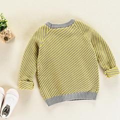 billige Sweaters og cardigans til drenge-Baby Drenge Ensfarvet / Stribet Langærmet Trøje og cardigan